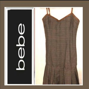BEBE MINI PLEATED DRESS